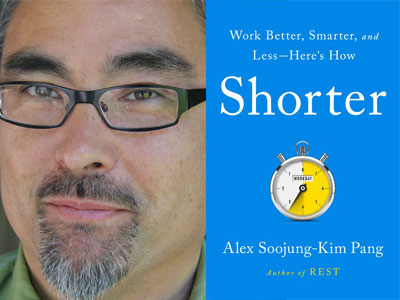 Alex Pang author photo and Shorter cover image