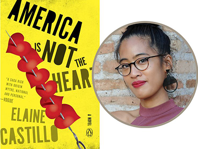 America is Not the Heart cover image and Elaine Castillo author photo