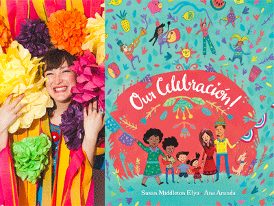 Ana Aranda author photo and Our Celebracion cover image