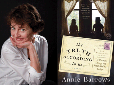 Annie Barrows author photo and The Truth According to Us cover image