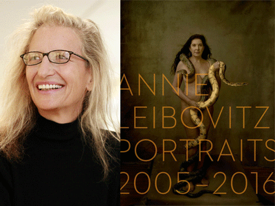 Annie Leibovitz author photo and Portraits cover image