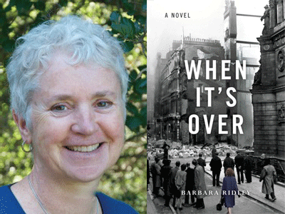 Barbara Ridley author photo and When It's Over cover image