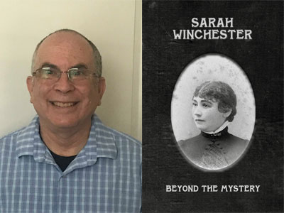 Bennett Jacobstein author photo and Sarah Winchester cover image