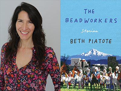 Beth Piatote author photo and The Beadworkers cover image