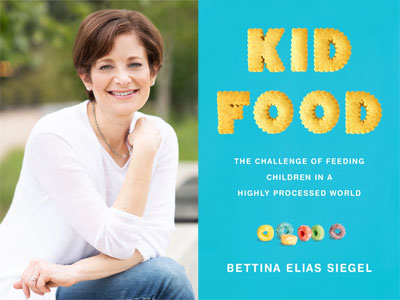 Bettina Siegel author photo and Kid Food cover image