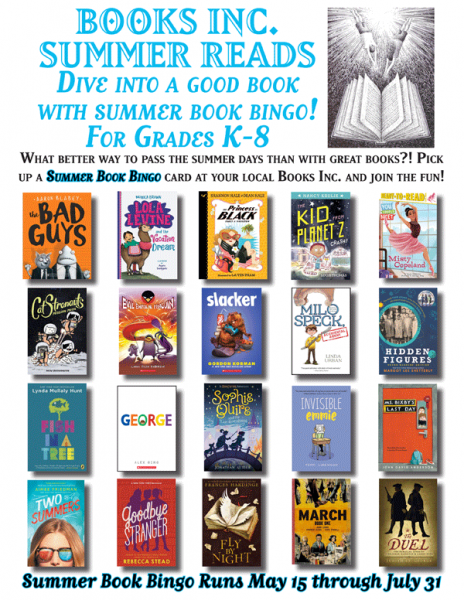 Summer Book Bingo poster