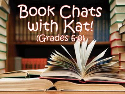 Book Chats with Kat title with books