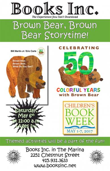 Brown Bear 50th Anniversary Story Time