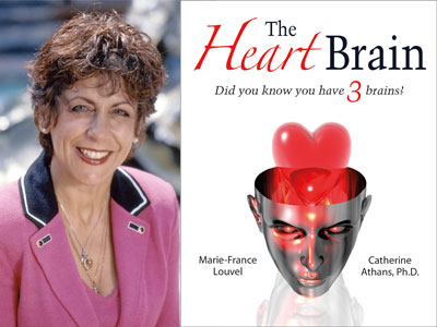 Catherine Athans author photo and The Heart Brain cover image