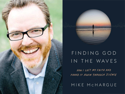 Mike McHargue author photo and Finding God in the Waves cover image