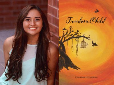 Chandra Lee Ingram author photo and Freedom Child cover image