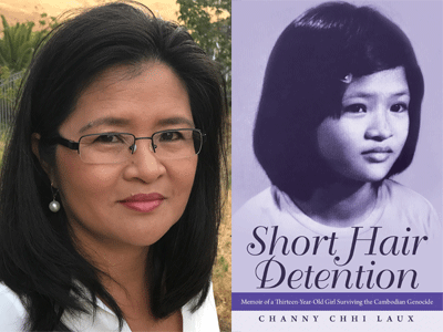 Channy Chhi Laux author photo and Short Hair Detention cover image