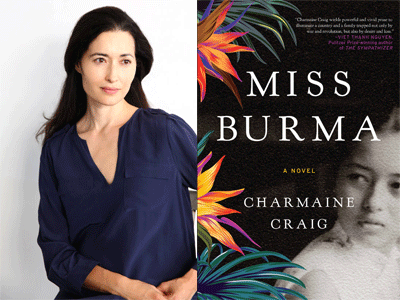 Charmaine Craig author photo and Miss Burma cover image