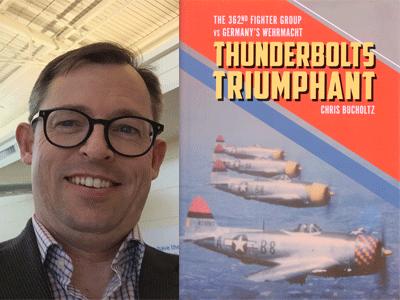 Chris Bucholtz author photo and Thunderbolts Triumphant cover image