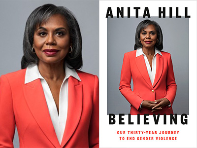 Anita Hill author photo and Believing cover image