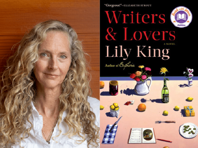 Lily King author photo and Writers & Lovers cover image