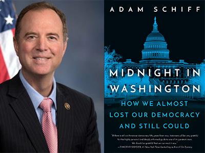 Adam Schiff profile picture and Midnight in Washington cover image