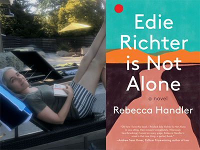 Rebecca Handler photo and Edie Richter is Not Alone cover image