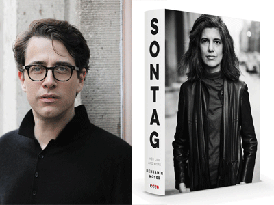 Benjamin Moser author photo and Sontag cover image