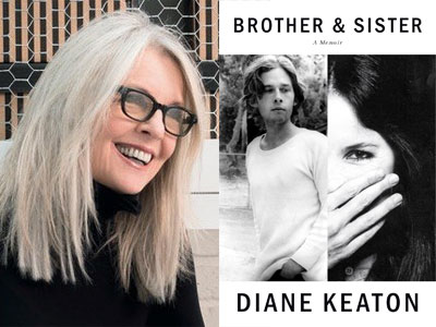 Diane Keaton author photo and Brother & Sister cover image
