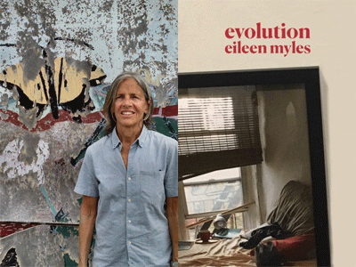 Eileen Myles author photo and Evolution cover image