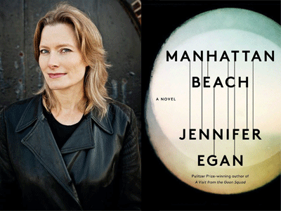 Jennifer Egan author photo and Manhattan Beach cover image