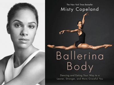 Misty Copeland author photo and Ballerina Body cover image