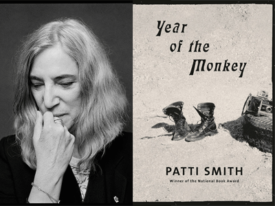 Patti Smith author photo and Year of the Monkey cover image
