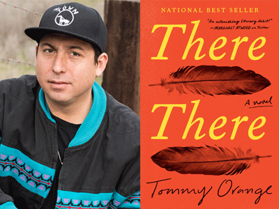 Tommy Orange author photo and There There cover image
