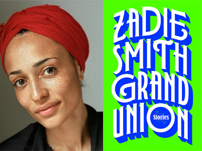Zadie Smith author photo and Grand Union cover image