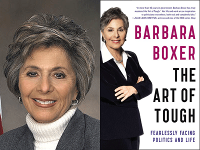 Senator Barbara Boxer photo and The Art of Tough cover image