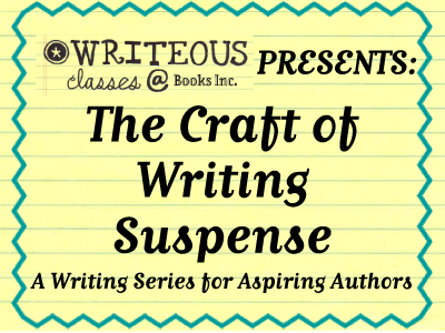 Craft of Writing Suspense banner
