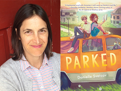 Danielle Svetcov author photo and Parked cover image