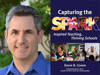 David B. Cohen author photo and Capturing the Spark cover image