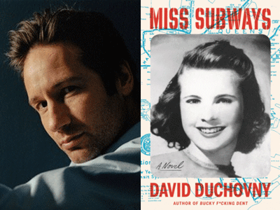 David Duchovny author photo and Miss Subways cover image