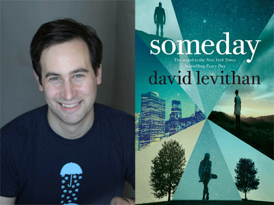 David Levithan author photo and Someday cover image