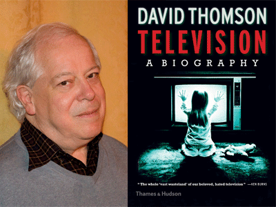 David Thomson author photo and Television book cover image