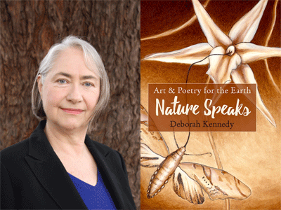 Deborah Kennedy author photo and Nature Speaks cover image