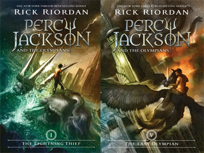 cover images for Percy Jackson and the L
