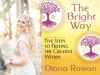 Diana Rowan author photo and The Bright Way cover image