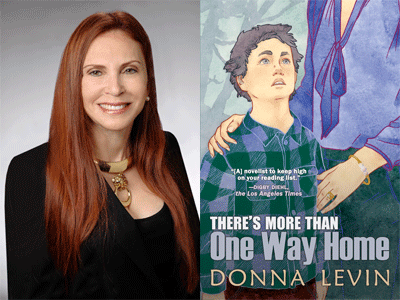 Donna Levin author photo and There's More Than One Way Home cover image