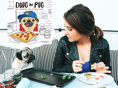 Doug the Pug and Leslie Mosier photo and Doug the Pug cover image
