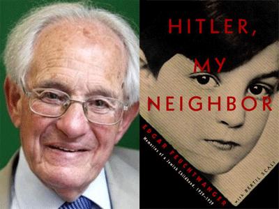 Edgar Freuchtwanger author photo and Hitler, My Neighbor cover image