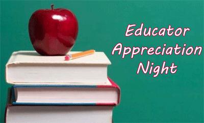 Educator Appreciation Night banner