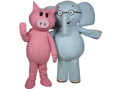 Elephant & Piggie character costumes