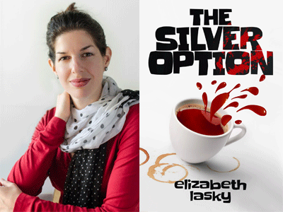 Elizabeth Lasky author photo and The Silver Option cover image