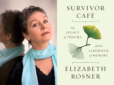 Elizabeth Rosner author photo and Survivor Cafe cover image