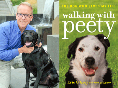 Eric O'Grey author photo and Walking with Peety cover image