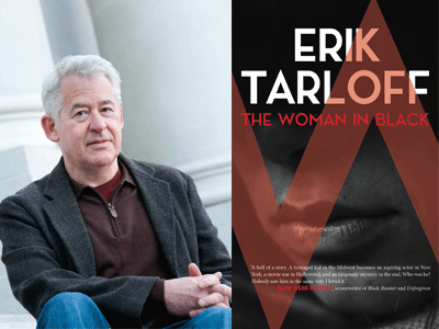 Erik Tarloff author photo and The Woman in Black cover image
