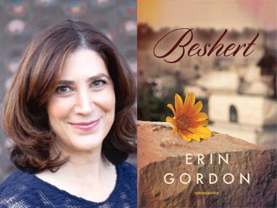 Erin Gordon author photo and Beshert cover image